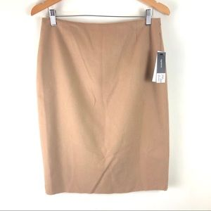 Saks Fifth Avenue Wool Tan Camel Pencil Skirt 8